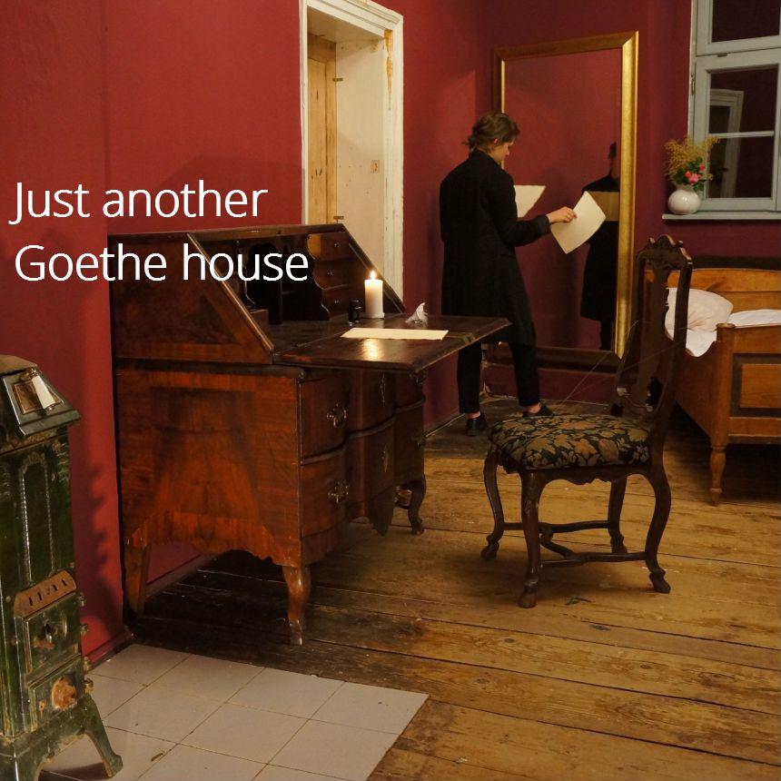 Goethe 1777 in seiner ersten Weimarer Wohnung, der heutigen ACC Galerie Weimar