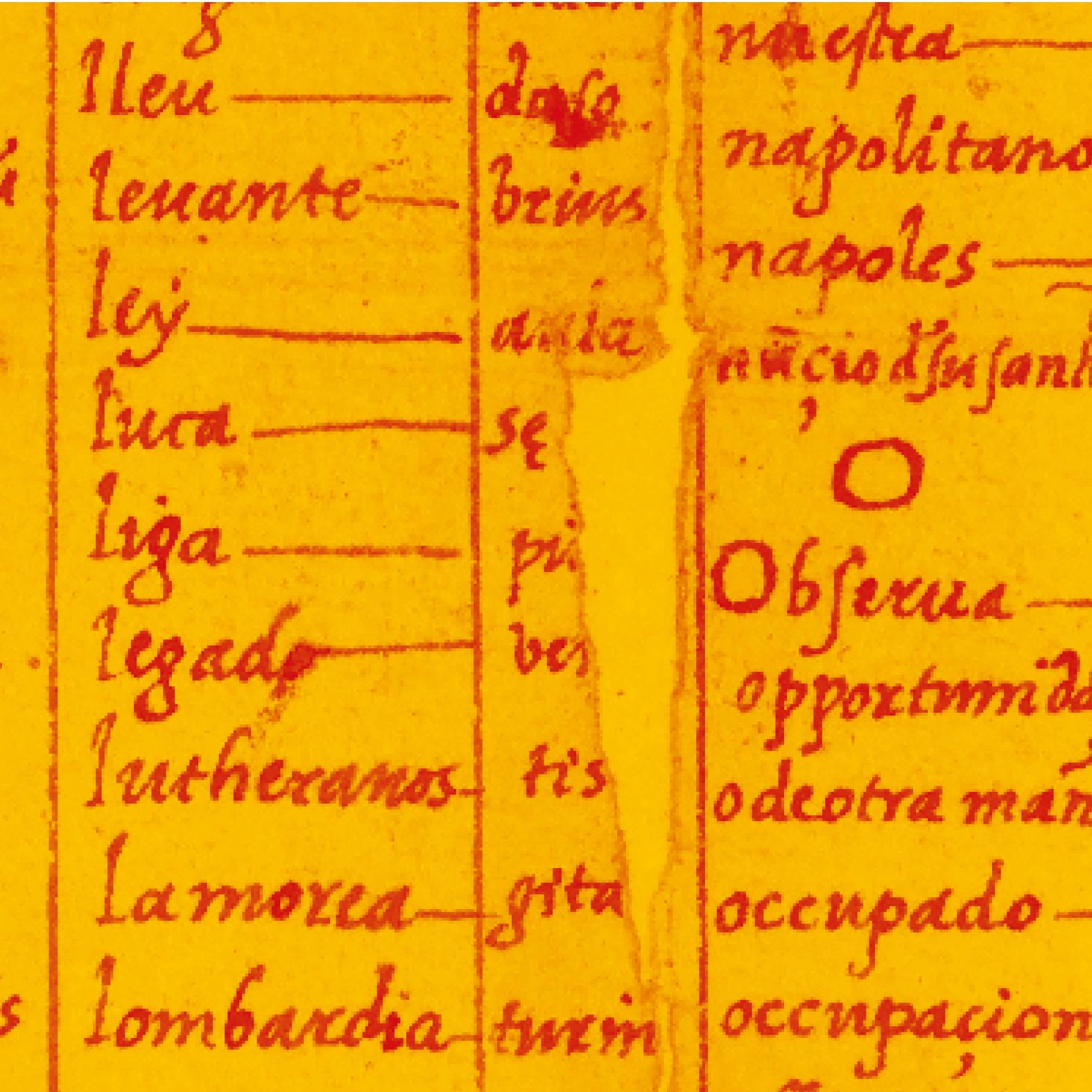 Bergenroth – Geheime Schriften und die Entzifferung der Wirklichkeit • Abb: Archivo General de Simancas